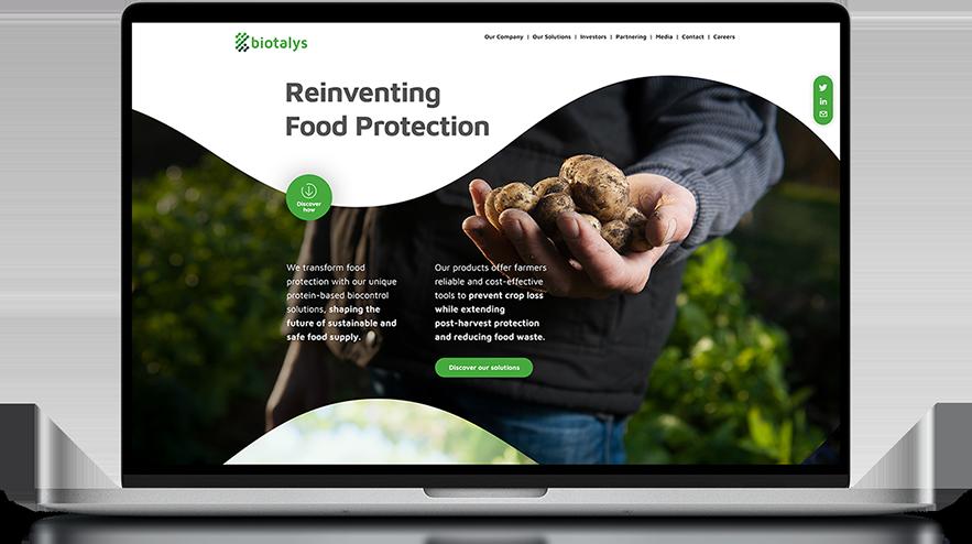 Bioatlys website design on a laptops