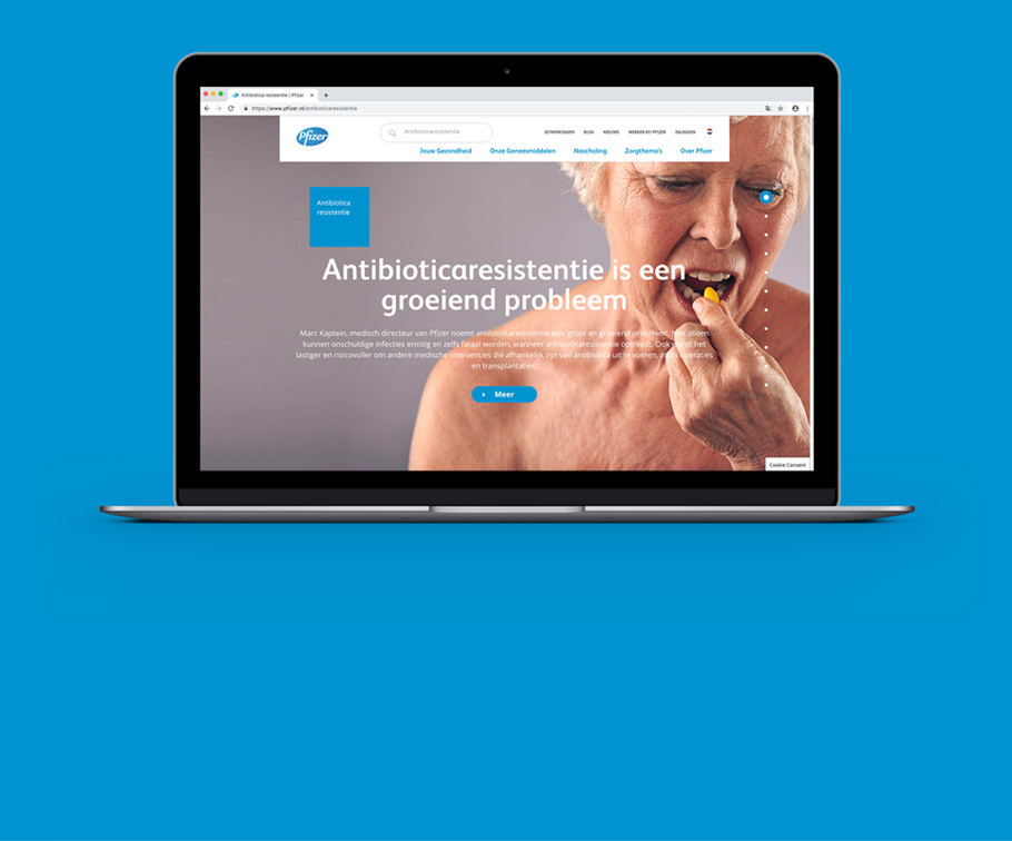 Pfizer - creating an inspiring and story driven online presence